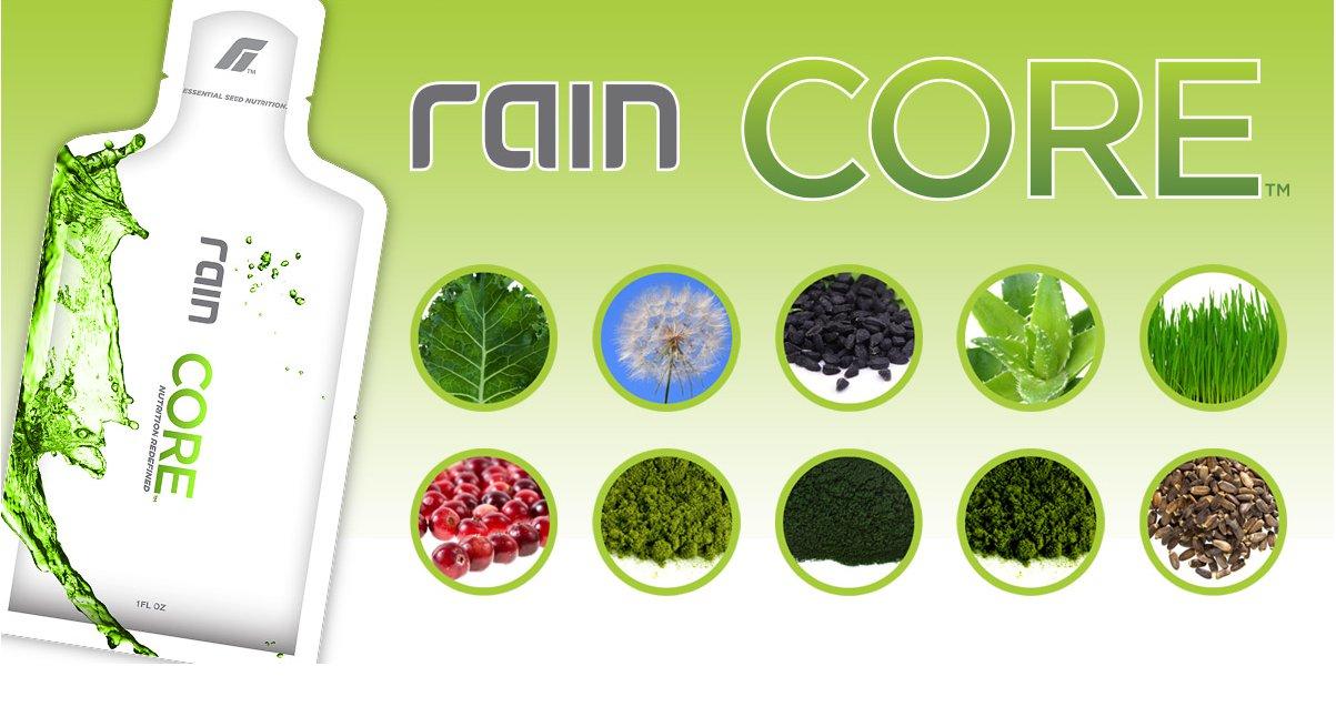 A Rain Core egy olyan tápanyagforrás, ami zöld növényi összetevőkre és magokra épül